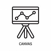 Canvas Icon Isolated On White Background. Canvas Icon Simple Sign. Canvas Icon Trendy And Modern Sym poster