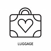 Luggage Icon Isolated On White Background. Luggage Icon Simple Sign. Luggage Icon Trendy And Modern  poster