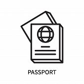 Passport Icon Isolated On White Background. Passport Icon Simple Sign. Passport Icon Trendy And Mode poster