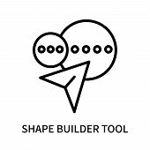 Shape Builder Tool Icon Isolated On White Background. Shape Builder Tool Icon Simple Sign. Shape Bui poster