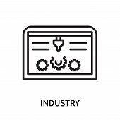 Industry Icon Isolated On White Background. Industry Icon Simple Sign. Industry Icon Trendy And Mode poster