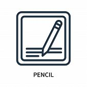 Pencil Icon Isolated On White Background. Pencil Icon Simple Sign. Pencil Icon Trendy And Modern Sym poster
