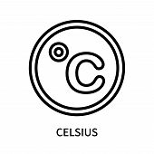 Celsius Icon Isolated On White Background. Celsius Icon Simple Sign. Celsius Icon Trendy And Modern  poster