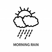Morning Rain Icon Isolated On White Background. Morning Rain Icon Simple Sign. Morning Rain Icon Tre poster