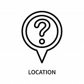 Location Icon Isolated On White Background. Location Icon Simple Sign. Location Icon Trendy And Mode poster