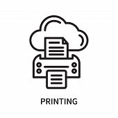 Printing Icon Isolated On White Background. Printing Icon Simple Sign. Printing Icon Trendy And Mode poster