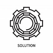 Solution Icon Isolated On White Background. Solution Icon Simple Sign. Solution Icon Trendy And Mode poster