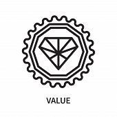 Value Icon Isolated On White Background. Value Icon Simple Sign. Value Icon Trendy And Modern Symbol poster