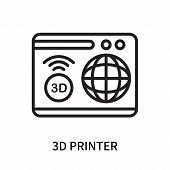 3d Printer Icon Isolated On White Background. 3d Printer Icon Simple Sign. 3d Printer Icon Trendy An poster