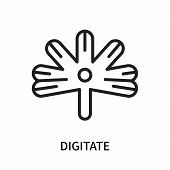 Digitate Icon Isolated On White Background. Digitate Icon Simple Sign. Digitate Icon Trendy And Mode poster