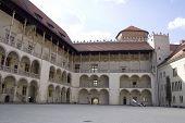 Inner Yard Of Wawel Castle. Krakow. Poland. Medieval History Memorial poster