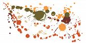 Graffiti Spray Stains Grunge Background Vector. Graphic Ink Splatter, Spray Blots, Dirt Spot Element poster