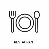 Restaurant Icon Isolated On White Background. Restaurant Icon Simple Sign. Restaurant Icon Trendy An poster