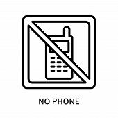 No Phone Icon Isolated On White Background. No Phone Icon Simple Sign. No Phone Icon Trendy And Mode poster