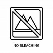 No Bleaching Icon Isolated On White Background. No Bleaching Icon Simple Sign. No Bleaching Icon Tre poster