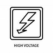 High Voltage Icon Isolated On White Background. High Voltage Icon Simple Sign. High Voltage Icon Tre poster