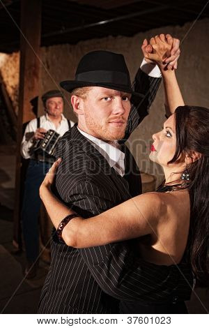 Handsome Tango Dancer With Partner