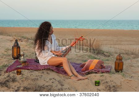 Woman On A Dune