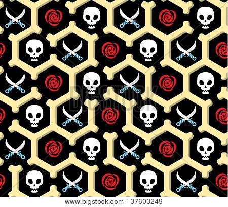 Seamless Bandit Theme Pattern