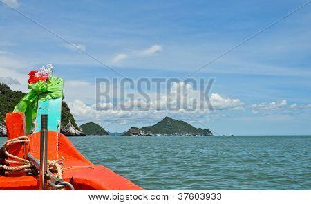 Orange Boat Sailing