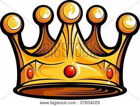 Royalty Or Kings Crown  Cartoon Vector Image