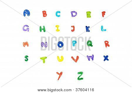 Handwritten Color Pen Alphabet.