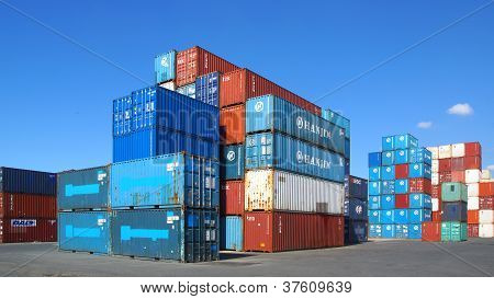 Shipping containers at the docks