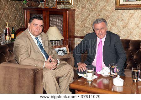 Karatzaferis and Psomiadis in a meeting