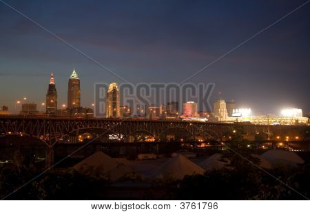 Cleveland Night Skyline