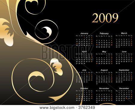 2009 Elegant Floral Calendar