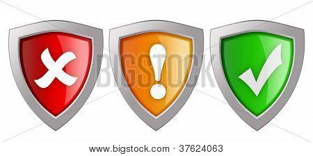Security shields illustration