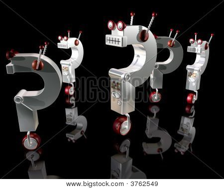 Robot Question Marks