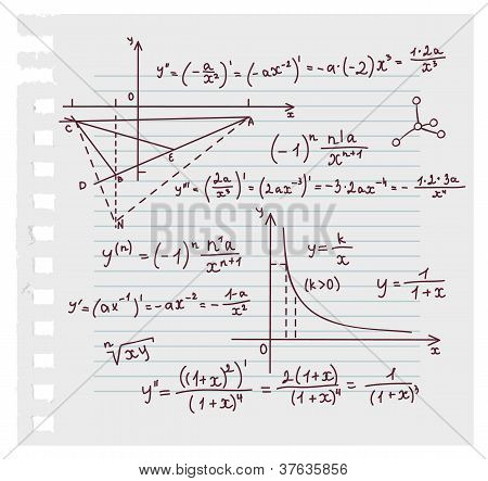 Álgebra Doodle fondo