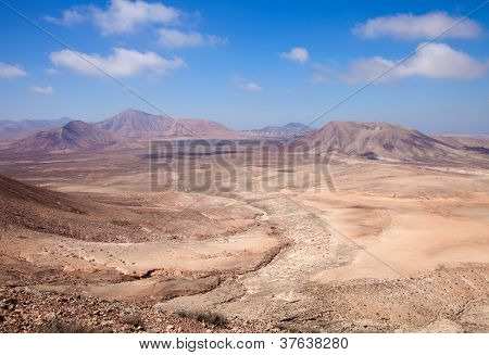 Northern Fuerteventura, View West From Montana Roja (red Mountain)