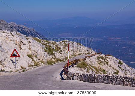 Mountain Road In Croatia