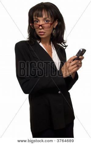 Woman In Large Eyeglasses