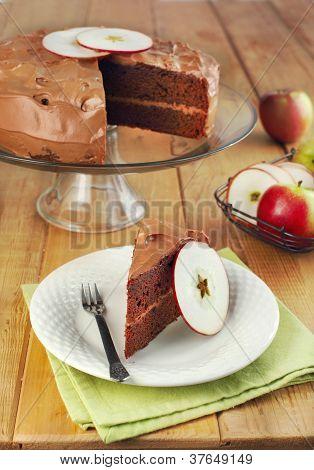 Chocolate Applesauce Layer Cake