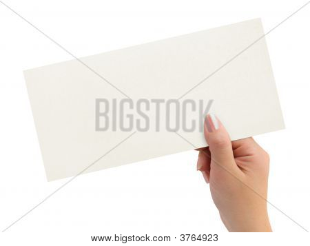 Greeting Card In Woman Hand