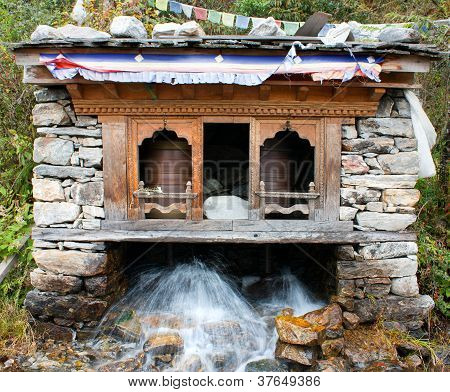 water prayer wheel