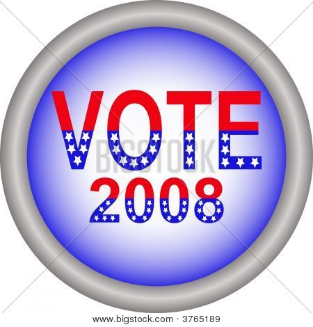 Vote 2008 Button