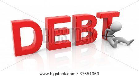 3D Man And Debt