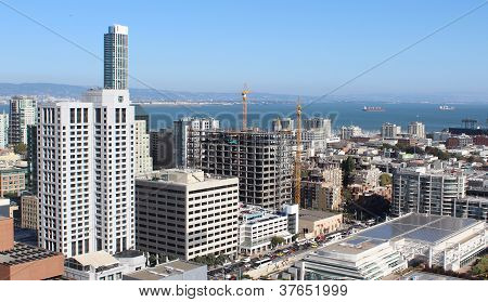 Downtown San Francisco overlooking bay