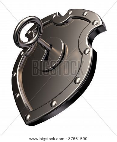 Locked Metal Shield