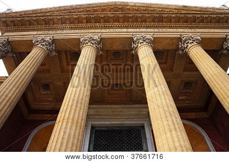 The Teatro Massimo of Palermo in Sicily