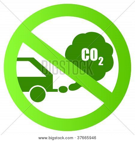 Ecological transport vector sign