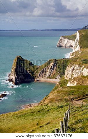 Dorset coastline towards Durdle Door