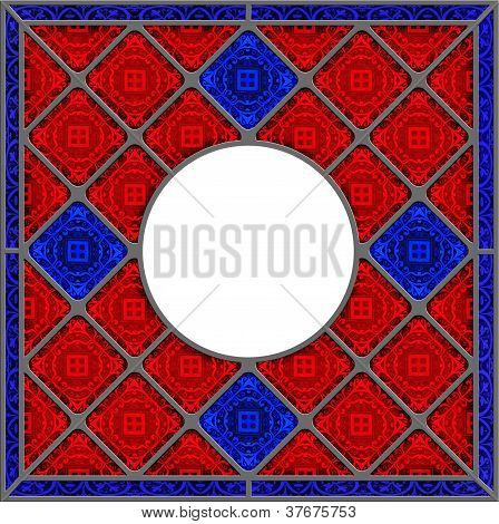 Realistic Patterned Stained Glass Window Panel