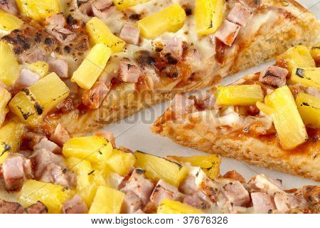 Close Up Image Of Hawaiian Pizza