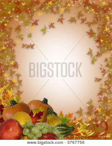 Thanksgiving Autumn Fall Leaves Background Sparkle