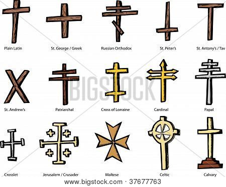 Various Christian Crucifix Designs